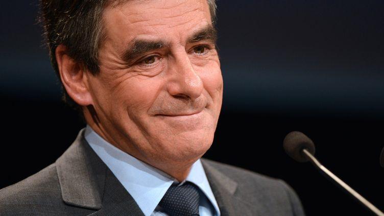 L'ancien Premier ministre François Fillon en meeting à Paris le 12 novembre 2012 au Palais des Congrès à six jours de l'élection de la présidence de l'UMP. (MIGUEL MEDINA / AFP)