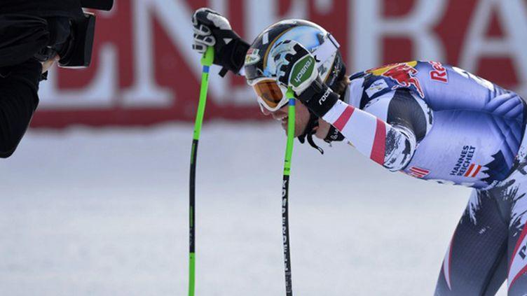 L'Autrichien Hannes Reichelt sera absent à Sotchi (SAMUEL KUBANI / AFP)