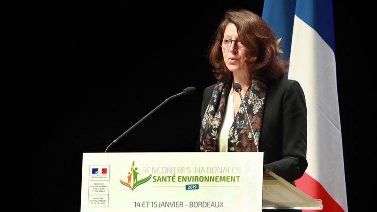 La ministre de la Santé Agnès Buzyn, lundi 14 janvier 2019 à Bordeaux (Gironde). (MAXPPP)