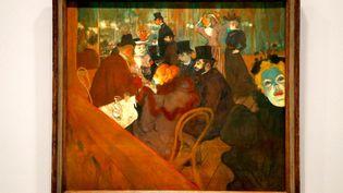 """""""Au Moulin Rouge"""" (1882-85) de Toulouse Lautrec. (FRANCOIS GUILLOT / AFP)"""