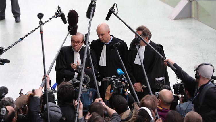 Les avocats de Laura Smet lors d'une audience au tribunal de Nanterre (photo d'illustration). (ARNAUD JOURNOIS / MAXPPP)
