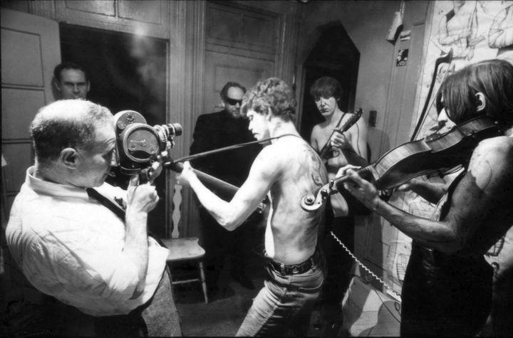 """Un reporter de CBS sur le tournage du film """"Venus in Furs"""" de Piero Heliczer en 1965.  (Adam Ritchie)"""