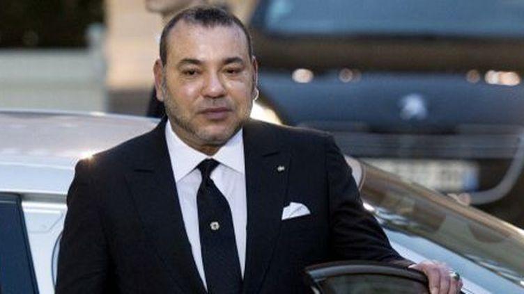 Le roi du Maroc Mohamed VI, lors d'une visite à Paris en février 2015. (Alain Jocard /AFP)