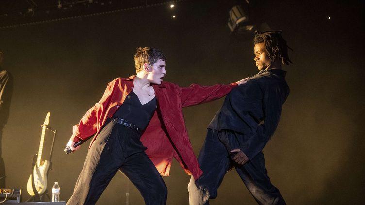 Christine and the Queens en concert à Coachella, le 13 avril 2019 (AMY HARRIS/AP/SIPA / AP / SIPA)