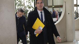 Mathieu Gallet, le 16 novembre 2016,au tribunal de Créteil. (THOMAS SAMSON / AFP)