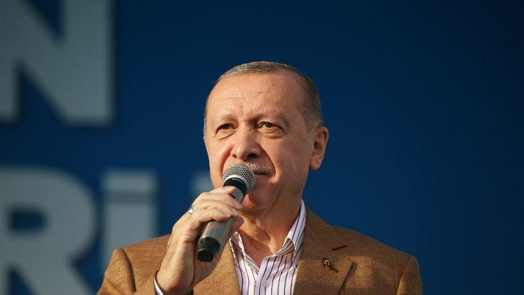 Le président turc,Recep Tayyip Erdogan, le 25 octobre 2020, à Malatya, en Turquie. (MURAT KULA / ANADOLU AGENCY / AFP)