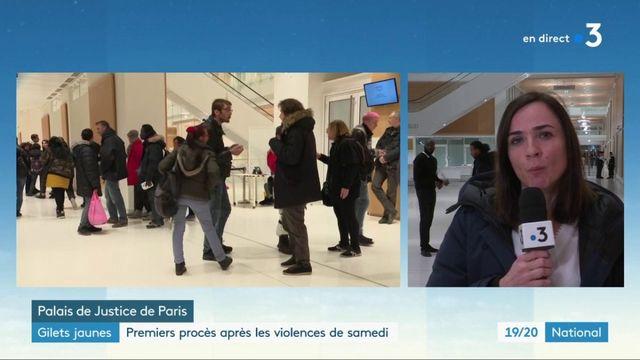 """""""Gilets jaunes"""" : premiers procès après les violences du week-end"""