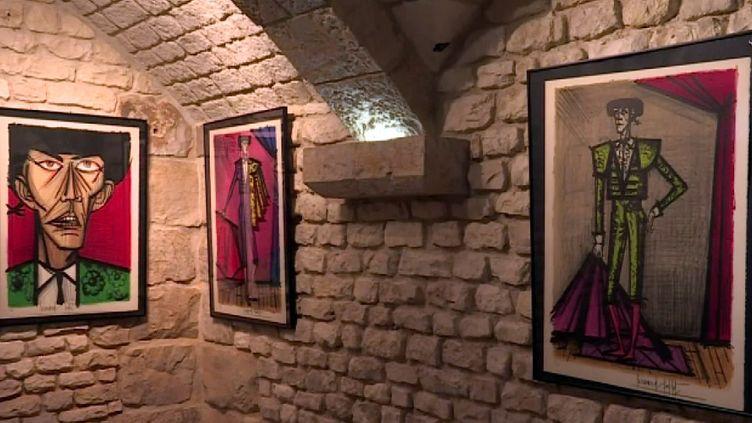 Une des salles d'exposition de la rétrospective Bernard Buffet à Vasceuil (S. L'Hôte)