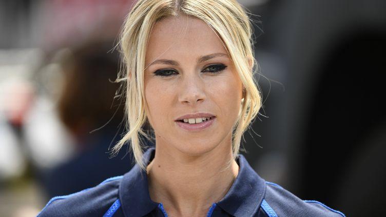 Marion Rousse, lors du Tour de France, le 7 juillet 2019, à Bruxelles (Belgique). (MAXPPP)