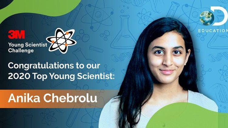 Anika Chebrolu, sacrée meilleure jeune scientifique de 2020 pour ses recherches sur le Covid-19. (CAPTURE D'ECRAN TWITTER)