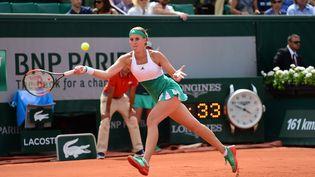 La joueuse de tennis françaiseKristina Mladenovic durant le tournoi de Roland-Garros, le 4 juin 2017. (JON BROMLEY / PRO SPORTS IMAGES LTD)