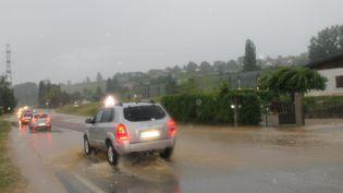 Des orages avaient déjà frappé la région Auvergne-Rhône-Alpes, le 3 juin 2017. (MAXPPP)