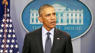 Le président américain Barack Obama donne une allocution à la Maison Blanche, le 12 juin 2016. (JOSHUA ROBERTS / REUTERS)