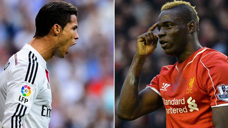 Ronaldo face à Balotelli, un des duels de la rencontre entre le Real Madrid et Liverpool