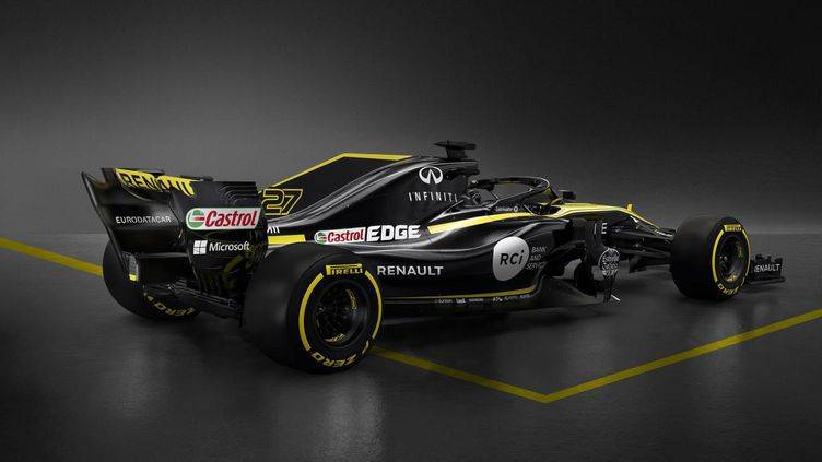 Le constructeur Renault a dévoilé sa nouvelle monoplace, mardi 20 février 2018, un peu plus d'un mois avant le début de la nouvelle saison de F1. (RENAULT SPORTS)