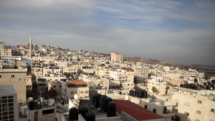 Le camp de réfugiés palestiniens de Qalandiya, en Cisjordanie, le 16 décembre 2015 (ELOISE BOLLACK / AFP)