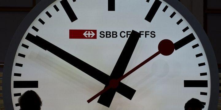 L'horloge des CFF (AFP/JOHN MACDOUGALL)