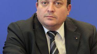 Cinquième sur la liste de Jean-Marie Le Pen dans la circonscription Sud-Est,Dominique Martin a été élu au Parlement européen le 25 mai 2014. (JACQUES DEMARTHON / AFP)