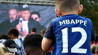 Kylian Mbappé au stade Léo-Lagrange de Bondy, le 17 octobre 2018. (FRANCK FIFE / AFP)