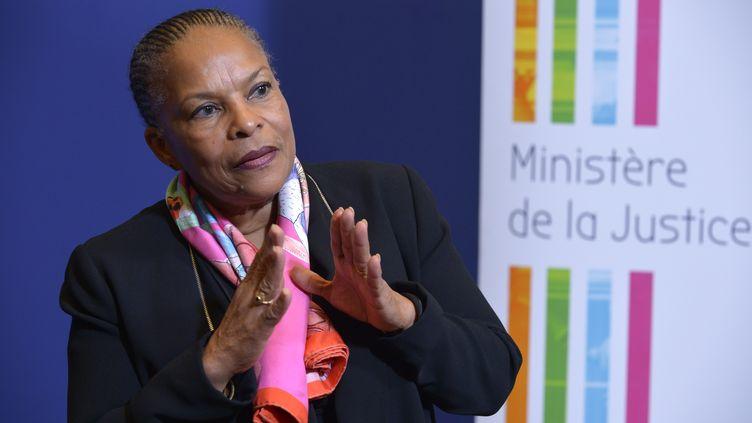 Christiane Taubira, le 15 décembre 2015 à Paris. (ERIC PIERMONT / AFP)