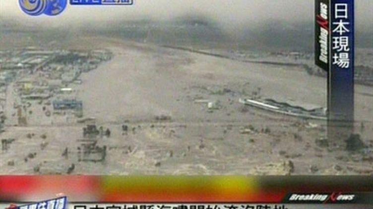 Un tsunami frappe les côtes de Sendai (AFP/CCTV)