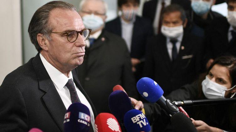 Le président de la région PACA Renaud Muselier, à Paris, le 4 mai 2021. (STEPHANE DE SAKUTIN / AFP)