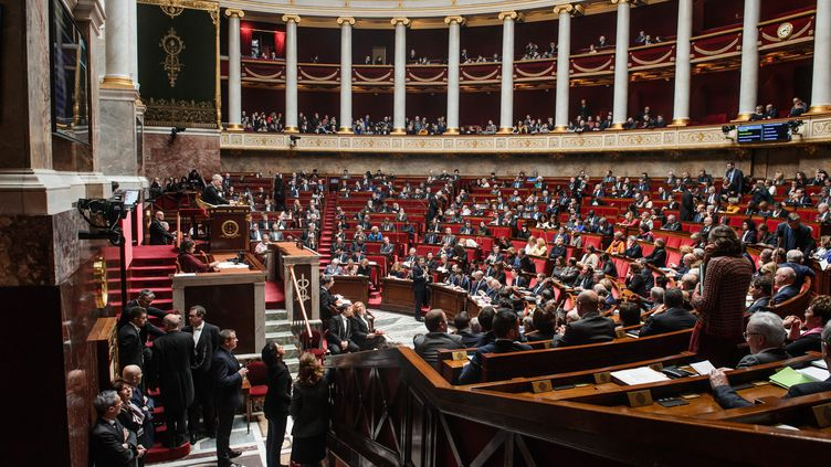 L'hémicycle de l'Assemblé nationale, le 13 février 2018. (MAXPPP)