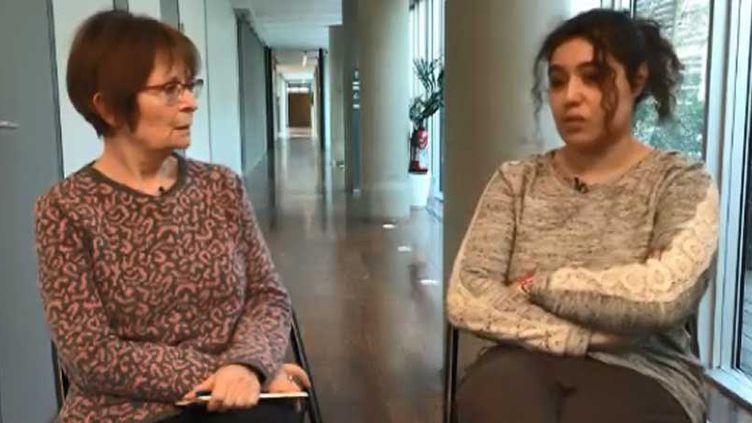 Les féministes Monique Dental et Fatima Benomar (FRANCEINFO)
