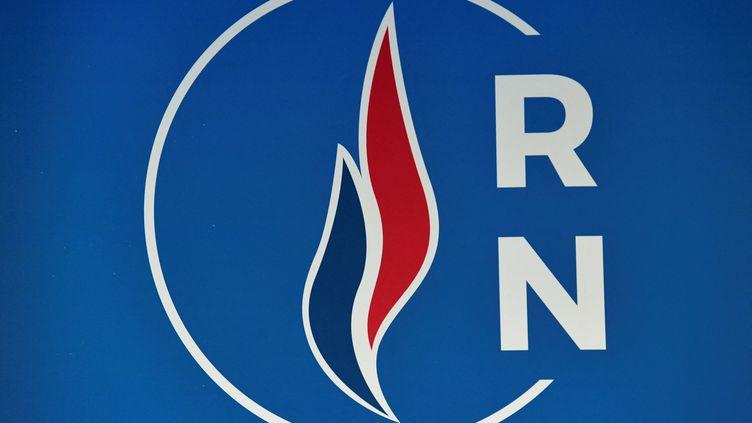 Le logo du Rassemblement national (illustration). (BERTRAND GUAY / AFP)