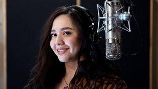 La chanteuse Manija (ou Manizha), qui va représenter la Russie à l'édition 2021 de l'Eurovision (16 mars 2021) (KIRILL KUDRYAVTSEV / AFP)
