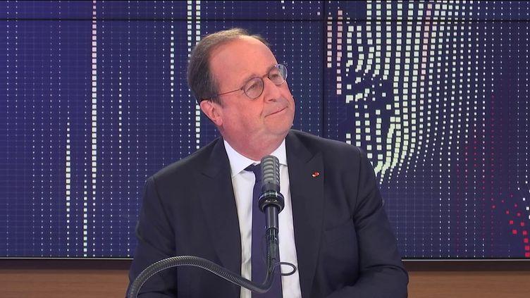 """François Hollande,ancien Président de la République était l'invité du """"8h30franceinfo"""", mercredi 8septembre 2021. (FRANCEINFO / RADIOFRANCE)"""