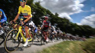 le Belge Greg Van Avermaet(BMC Racing) lors de la 5e étape du 105e Tour de France, entre Lorient (Morbihan) et Quimper (Finistère), le 11 juillet 2018. (DAVID STOCKMAN/BELGA MAG)