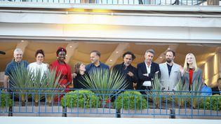 Le jury du 72e festival de Cannes, autour de son président Alejandro Iñarritu (13 mai 2019) (FRED DUGIT / MAXPPP)
