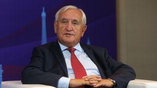 Jean-Pierre Raffarin àXi'an (Cihne) lors d'un forum, le 19 septembre 2018. (SHANG HONGTAO / IMAGINECHINA / AFP)