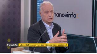Bruno Mettling,président du cabinet conseil Topics etancien DRH d'Orange, invité éco de franceinfo, vendredi 12 mars 2021. (FRANCEINFO)