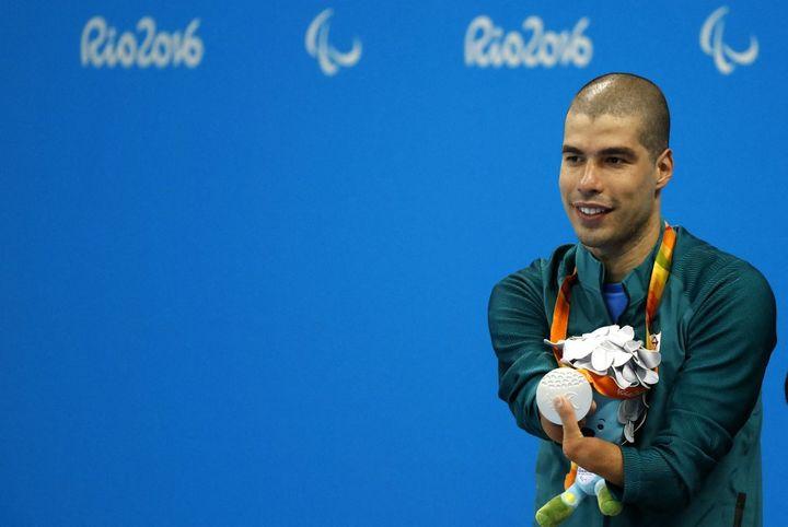Com 24 medalhas paraolímpicas em triplicado, Daniel Dias no Rio se tornou o nadador masculino mais condecorado nas Paraolimpíadas de todos os tempos.  (FABIO MOTTA / ESTADAO CONTEUDO / AFP)