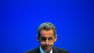 Nicolas Sarkozy, le 21 octobre 2016. (BERTRAND LANGLOIS / AFP)