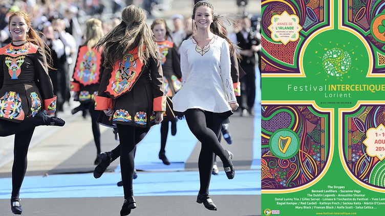 La 44e édition du festival Interceltique de Lorient célèbre l'Irlande  (JEAN-SEBASTIEN EVRARD / AFP)