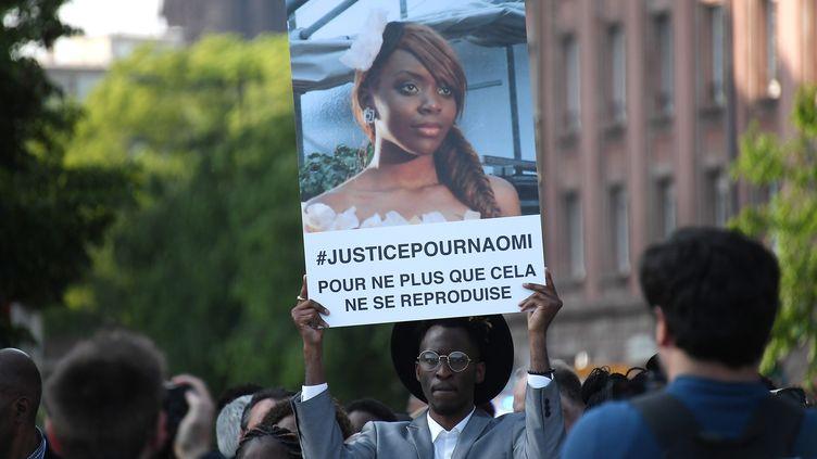Plusieurs marches ont déjà été organisées pour Naomi Musenga à Strasbourg. Ici, le 16 mai 2018. (FREDERICK FLORIN / AFP)