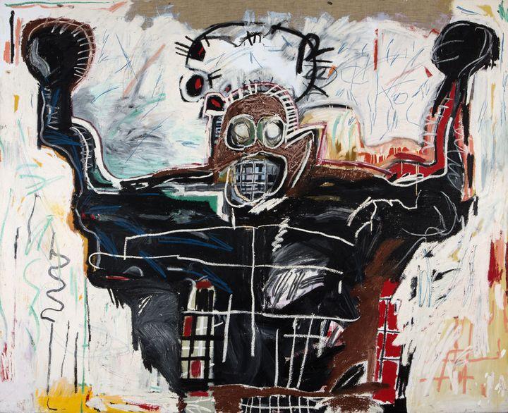 "Jean-Michel Basquiat, ""Untitled (Boxer)"", 1982, Collection particulière  (Estate of Jean-Michel Basquiat. Licensed by Artestar, New York)"