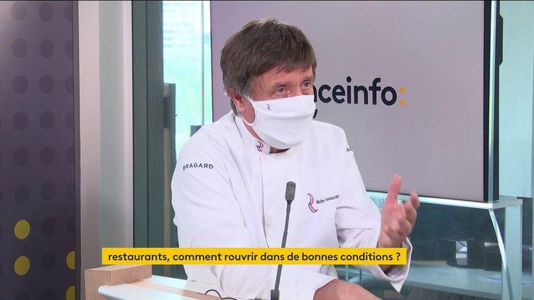 Alain Fontaine, président de l'Association française des maîtres restaurateurs, sur franceinfo vendredi 30 avril 2021. (FRANCEINFO / RADIO FRANCE)