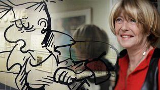 Exposition Claire Bretécher à la BPI de Beaubourg  (Laurence Houot avec Rita Scalia / Dargaud )