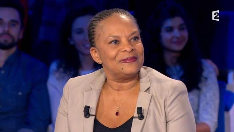 Christiane Taubira, invité d'ONPC, le 6 février. (FRANCETV INFO)