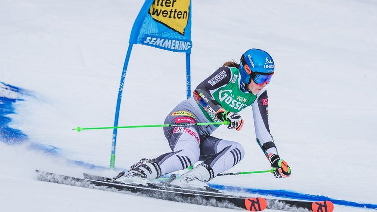 La Slovaque Petra Vlhova était en tête après la première manche du Géant de Semmering (DOMINIK ANGERER / EXPA)