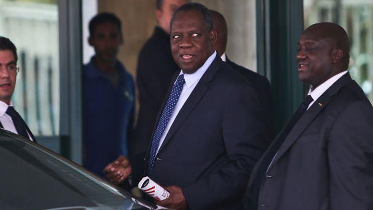 Le président de la Confédération Africaine de Football, Issa Hayatou