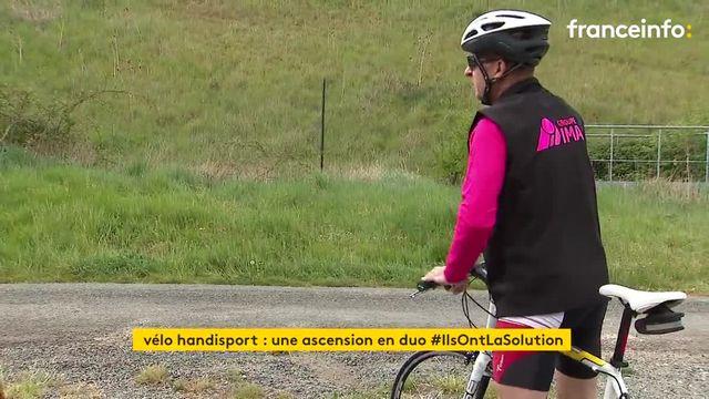 Malvoyant, il gravira seul sur son vélo le col d'Aubisque
