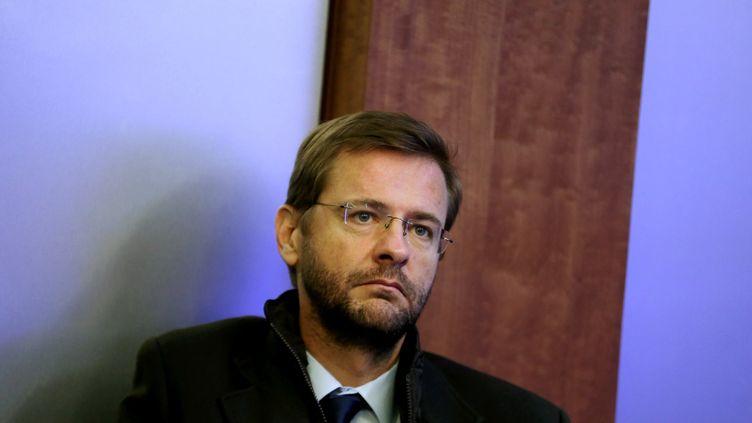 Jérôme Lavrilleux, lors d'un point presse de l'UMP à Paris, le 21 novembre 2012. (HAMILTON / REA)
