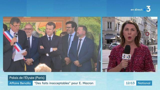 """Affaire Benalla : """"Des faits inacceptables"""" pour Emmanuel Macron"""