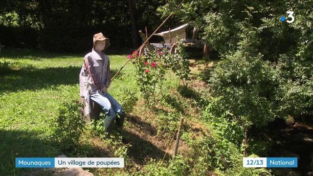 Aveyron : Auzits expose ses Mounaques, des poupées grandeux nature dans son village