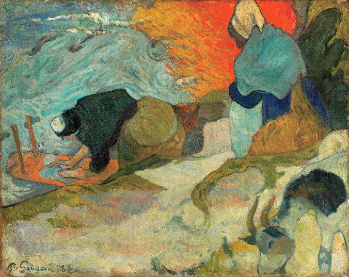 "Paul Gauguin, ""Laveuses à Arles"", dit aussi ""Lavandières"", 1888,Bilbao, Museo de Bellas Artes de Bilbao  (Bilboko Arte Ederren Museoa - Museo de Bellas Artes de Bilbao)"